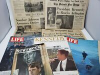 Vintage Lot of JFK Kennedy Assassination Magazines and Newspapers