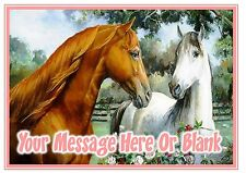 ND1 Horse Painted Painting effect personalised A4 cake topper icing sheet