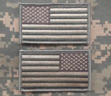 USA US AMERICAN FLAG REVERSE LEFT RIGHT ARMY SHOULDER ACU LIGHT HOOK 2 PATCHES