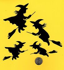 4 Witch Die Cuts - Silhouette Witch Die Cuts - Black or you choose color