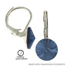 pendientes con elementos de Swarovski, Color: Montana, Azul, Lapis Azul