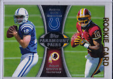 RG3 III & Andrew LUCK Robert GRIFFIN ROOKIE $$ Football NFL Colts Redskins RC!