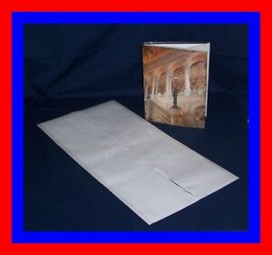 """10 - 14"""" x 28"""" Brodart ARCHIVAL Fold-on Book Jacket Covers - super clear mylar"""