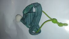 MARSHALL PET XS HAT PUFF BALL. GREEN WITH WHITE NEW WITHOUT TAG.FREE SHIP TO USA