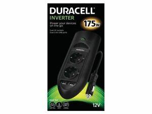 Duracell 175W Twin EU Socket Inverter power adapter/inverter DRINV15-EU