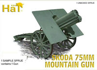 HaT 8244 WWI Skoda 75mm Mountain Gun 1/72 Model Artillery Kit - 1 SPRUE (1 GUN)