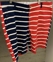 NWT Vineyard Vines Mens Board Shorts Size 30 Striped Red White And Blue