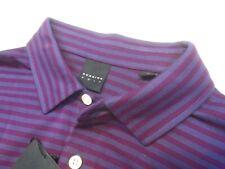 Dunning Golf Performance Fabric Purple Striped Polo Golf Shirt NWT Medium $89