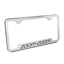 Mazda Zoom-Zoom Brushed Stainless Steel 50 States License Plate Frame