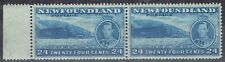 Canada - Newfoundland 1937 KGVI 24c marginal pair with & without wmk