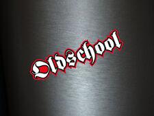 1 x Aufkleber Oldschool Old School Alte Schule Sticker Shocker Smiley Tuning Fun