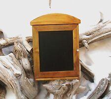 Wood Hanging Key Holder Organizer Magnetic Chalk Board