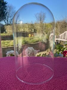 Vintage Glass Display Cloche Bell Jar Dome Cover / Anniversary Clock - Excellent