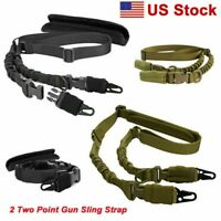 Heavy Superior Adjustable Two Point Rifle Sling Durable Gun Strap + Shoulder Pad