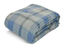 Mainstays Fleece Gray & Blue Plaid Throw Blanket 50x60 NWT