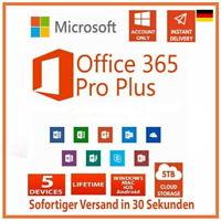 ✔️Microsoft Office 365 Pro Professional Plus✔️Aktiviert✔️32/64 Bit✔️Multilingual