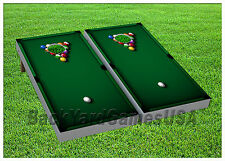 CORNHOLE BEANBAG TOSS GAME w Bags Game Boards Billards Pool Green Set 920