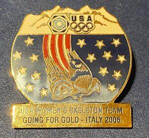 TORINO 2006 -  USA NOC WOMEN`S SKELETON TEAM PIN very large pin