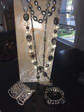 Jewelry lot - Stella & Dot, Talbots, Chicos, Lia Sophia + Nice Gray & Silver lot