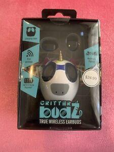 Critter Budz True Wireless Earbuds ~ Unicorn Charging Case ~ Bluetooth ~ Vivitar