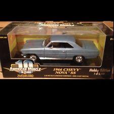1966 Nova SS327 MIST BLUE  1:18 Ertl American Muscle 32978