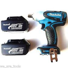 New Makita 18 Volt XWT05 Cordless 1/2 Impact Wrench,(2) BL1830 3.0 Batteries 18V