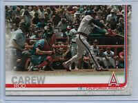 2019 Topps Series 2 Baseball Short Print Variation Rod Carew #631 Minnesota