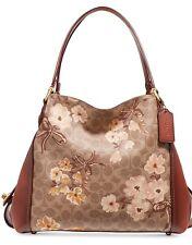 Coach 54651 Prairie Signature Coated Canvas Edie 31 Shoulder Bag Tan Rust