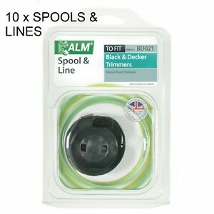 10 x ALM Black & Decker Spool & Line Manual Feed GL200 BD021 LAST LOT