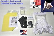 Pro Silver & Precious Metal Care Kit 100 3M Anti-Tarnish Paper Tabs & Much More