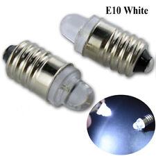 2pcs White LED 3V E10 BULB Screw GLOBE for FLASHLIGHT TORCH HEAD LAMP BICYCLE