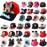 Kids Boys Girls Mickey Minnie Mouse Baseball Cap Hip Hop Toddler Snapback Hat