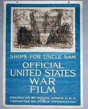 World War I Vintage Poster, Official United States war film