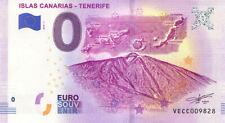 ESPAGNE Iles Canaries, Tenerife, 2019, Billet 0 € Souvenir