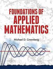 Foundations of Applied Mathematics by Greenberg, Michael (Paperback book, 2013)