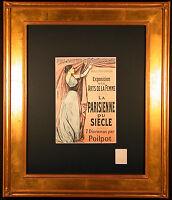 La Parisienne du Siecle 1899 Color Lithograph After Jean-Louis FORAIN Framed