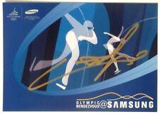 Cartolina Olimpiadi Torino 2006 Samsung Con Autografo Di Un Atleta Non Identific