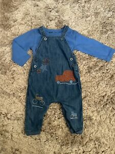 NEXT BABY BOYS 9-12 MONTHS DUNGAREES, OUTFIT BUNDLE COMBINE POST