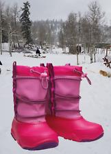 NWT CROCS Swiftwater Toddler Girls Waterproof Winter Snow/Rain Boots Pink Size 8