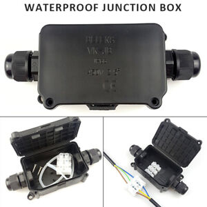 Waterproof Junction Box Case Underwater Electrical Cable Wire Connector IP66 US