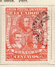 Ecuador 1895 antiguo problema Fine Used 20c. 121937