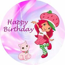 STRAWBERRY SHORTCAKE 7 inch  Edible Image Frosting Sheet Cake Topper