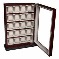 Scatola Portaorologi Astuccio per 20 orologi in legno vetrina Box Cofanetto