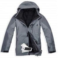 D81 Men Gray Ski Snow Snowboard Winter Waterproof Breathable Jacket S M L XL XXL