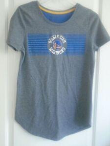 NBA Golden State Warriors  sz S gray & blue cotton  blend short sleeve tee NEW