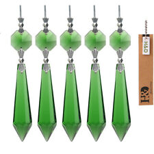 10 Green Chandelier Crystal Lamp Prisms Parts Hanging Pendants Wedding 55mm