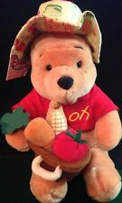 "Disney Store Jumbo Veggie Garden Pooh 12"" Plush w/Tee T-Shirt Toy Collectible!"