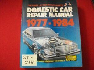 POPULAR MECHANICS DOMESTIC CAR REPAIR MANUAL 1977-1984 DO-IT-YOURSELF REPAIRS