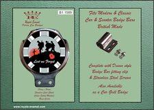 Royale Car Badge Bar Badge - GREY UNION JACK LEST WE FORGET POPPY - B1.1589