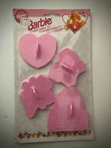 Barbie Cookie Cutter Set by Wilton-1995-(Barbie, Butterfly, Flower & Heart)